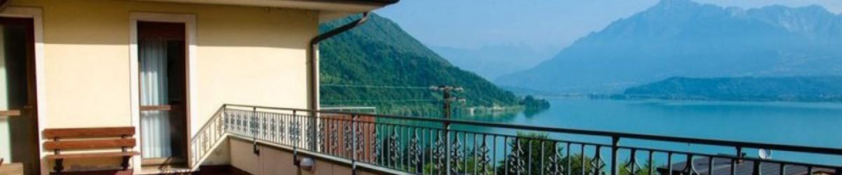 vista sul lago di Santa Croce